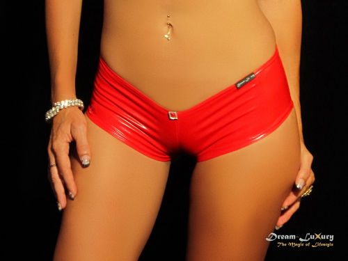 Dream-Luxury Hotpant made of elastic Stretch-Vinyl available in 13 colours