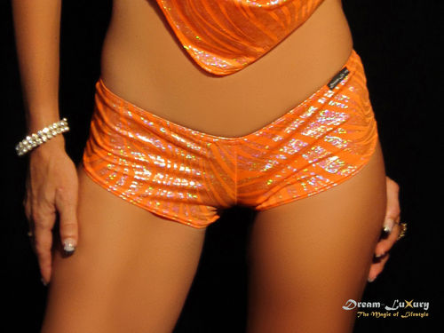 Dream-Luxury Hotpant made of Hologram-Nylon in 16 colours