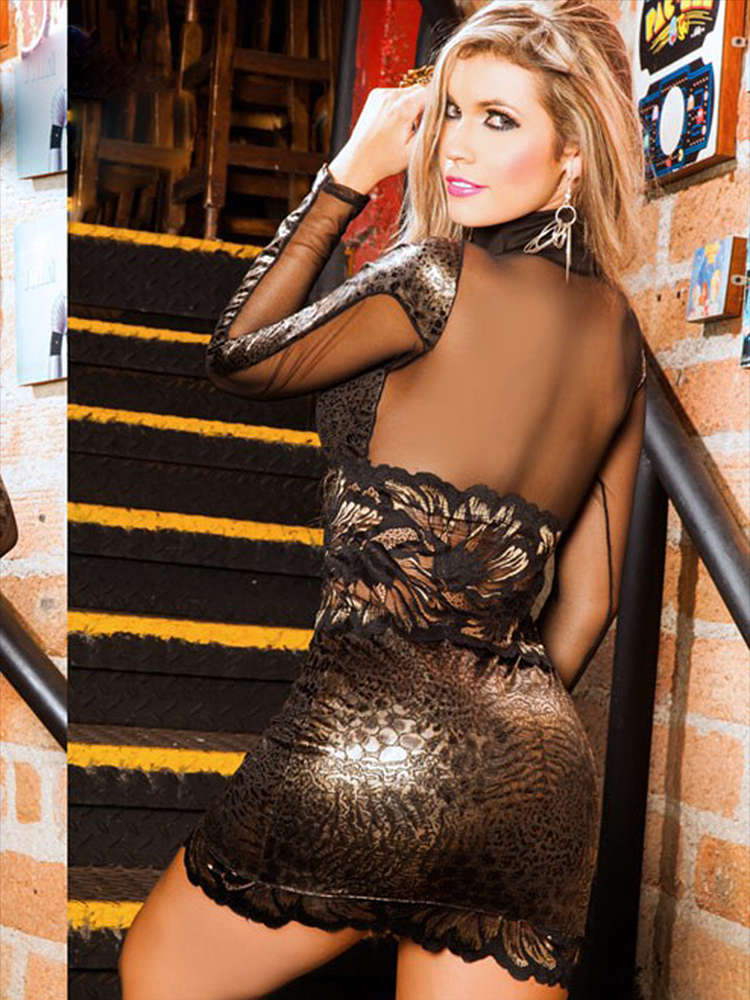 Sexy Luxus Latino Minikleid - Cocktailkleid - Abendkleid