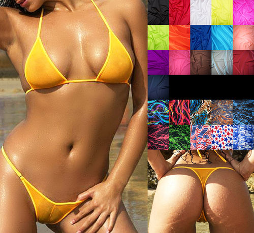 Brazil Triangle Extreme Micro String-Bikini 26 colours