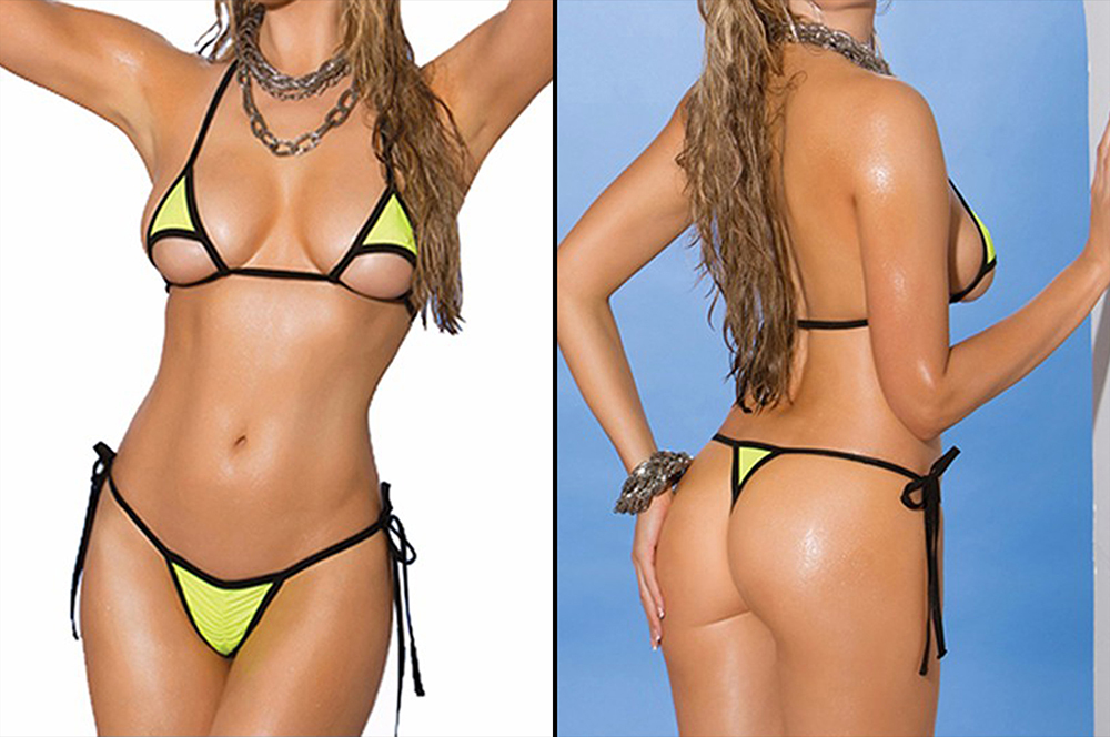 Bikini string tanga, movies theme outer beauty